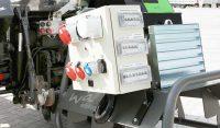 Zapfwellenstromerzeuger am Tracker mit Sicherungskasten